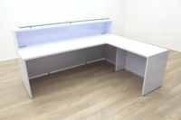 New Cancelled Order Gloss White Office Reception Desk Counter - Thumb 3