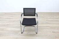 Black Fabric Seat / Charcoal Fleck Back Office Meeting Chairs - Thumb 5