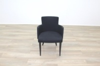 Black Fabric w/ Green Fleck Office Reception Tub Style Chairs - Thumb 5