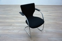 Orangebox X10 Black Fabric Chrome Frame Office Meeting Chairs - Thumb 2