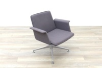 Brunner Grey Fabric Self Centering Meeting/Reception Chair - Thumb 5