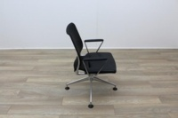Vitra Meda Black Leather Seat Mesh Back Meeting Chair - Thumb 6