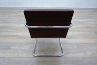 Knoll Studio Brno by Mies Van Der Rohe Brown Leather Executive Office Meeting Chairs - Thumb 5