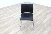 Icon Patra Black Office Canteen Chairs - Thumb 2
