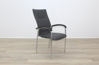 Brunner Dark Grey Leather Meeting Chair - Thumb 5
