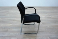 Herman Miller Cantilever Black Fleck Fabric Office Meeting Chairs - Thumb 4