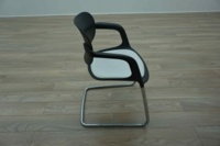 Allermuir A781 Black / White Office Stacking Meeting Chairs - Thumb 4
