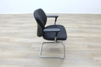 Orangebox Joy Black Leather Executive Office Meeting Chair - Thumb 6