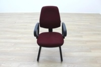 President Burgundy Fabric Office Meeting Chairs - Thumb 4