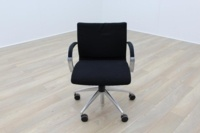 ICF Black Fabric Executive Office Task Chairs - Thumb 3