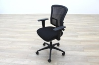 New Cancelled Order Black Fabric / Plastic Mesh Back Office Task Chairs - Thumb 3