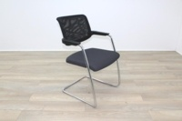 Brunner Black Mesh Back Grey Fabric Seat Meeting Chair - Thumb 5