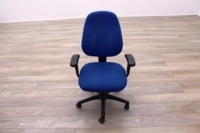 Blue Fabric Multifunction Office Task Chairs - Thumb 2