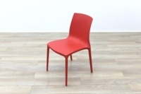 Brunner Red Polymer Canteen Chair - Thumb 3