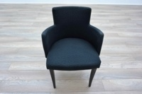 Black Patterned Office Reception Tub / Meeting Chairs - Thumb 3