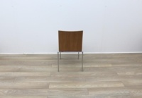 Walnut With Leather Seat Meeting Chairs - Thumb 5