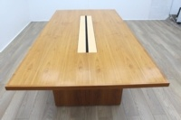 Sven Christiansen Walnut / Bird's Eye Maple Office Meeting Table - Thumb 4