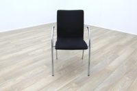 Black Fabric / Chrome Office Meeting Chairs - Thumb 3