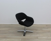 Black Fabric Kusch Co Volpe Meeting Chairs - Thumb 6
