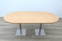 Beech Racetrack Office Meeting Table - Thumb 2