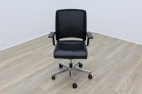 Interstuhl Black Leather Operator Chair - Thumb 2