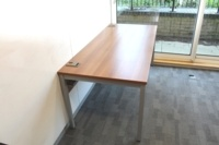 Walnut 1800mm Straight Office Desks - Thumb 3