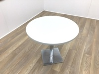 Light Grey Round Table 800mm - Thumb 2