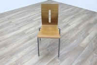 Beech Bentwood Stacking Office Canteen Chairs - Thumb 2