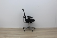 Sitland Operator Chair With Chrome Back And Chrome Legs - Thumb 3