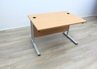 Beech Cantilever Desks With Courtesy Panel - Thumb 4