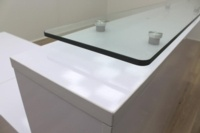 New Cancelled Order Gloss White Office Reception Desk Counter - Thumb 9