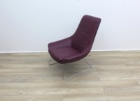 Walter Knoll Flow Armchair in Oxblood Leather - Thumb 3