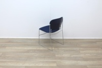 Blue stacking meeting chairs with chrome finish - Thumb 5
