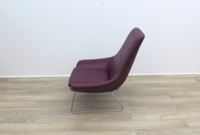 Walter Knoll Flow Armchair in Oxblood Leather - Thumb 4