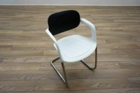 Allermuir A783 White / Black Office Stacking Meeting Chairs - Thumb 2