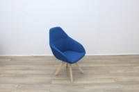 Blue Fabric Reception Chair - Thumb 6