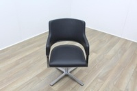 Brunner Grey Leather Executive Meeting Chair - Thumb 2