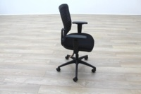 New Cancelled Order Black Fabric / Plastic Mesh Back Office Task Chairs - Thumb 5