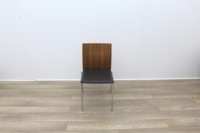 Walnut With Leather Seat Meeting Chairs - Thumb 3