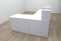 New Cancelled Order Gloss White Office Reception Desk Counter - Thumb 8