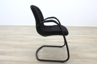 Steelcase Strafor Black Fabric Office Meeting Chairs - Thumb 5