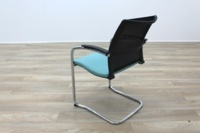 Sedus UP 233 Black Mesh Back Teal Seat Office Meeting Chairs - Thumb 6