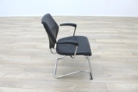 Giroflex 16 Series Black Leather Cantilever Office Meeting Chairs - Thumb 6