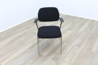 Brunner Black Fabric Meeting Chair - Thumb 2