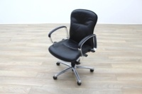 Black Faux Leather Executive Office Task Chairs - Thumb 2