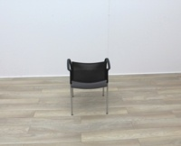 Boss Stacking Meeting Chairs Black Back And Grey Seat - Thumb 5