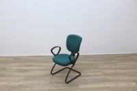 Green Fabric Meeting Chairs - Thumb 3