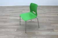 Allermuir Casper Green Shell Chrome Frame Office Meeting / Canteen Chairs - Thumb 3