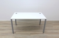 White 1400mm Straight Office Desks - Thumb 3