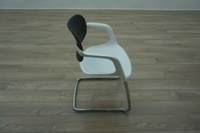 Allermuir A783 White / Black Office Stacking Meeting Chairs - Thumb 4